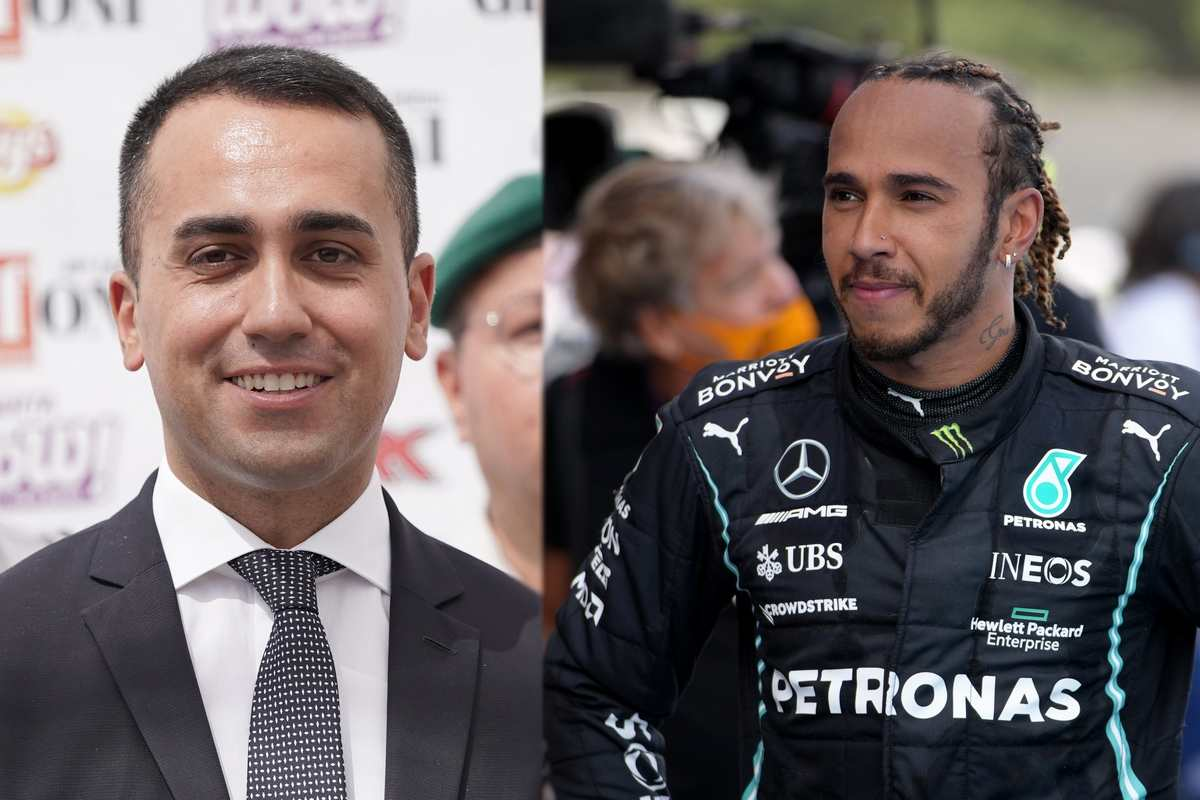 Luigi Di Maio e Lewis Hamilton (Getty Images)