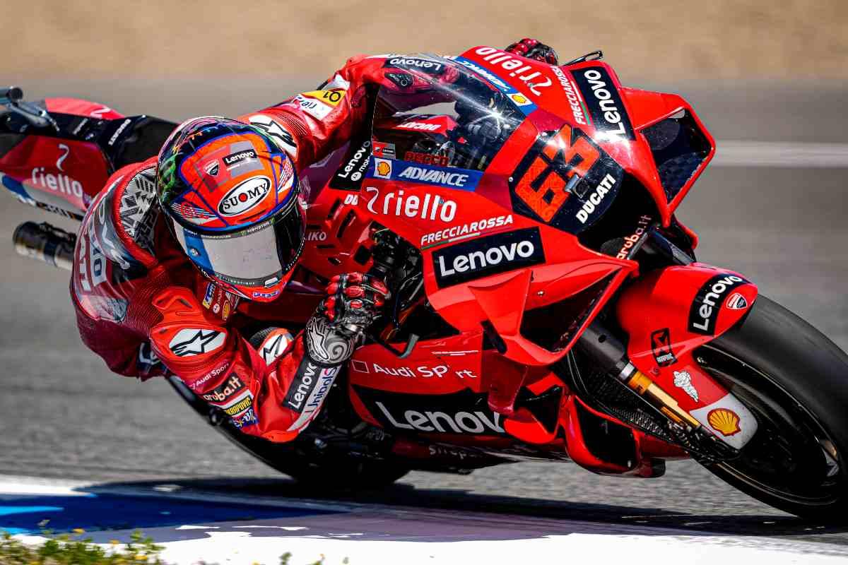 Pecco Bagnaia nel Gran Premio di Spagna di MotoGP 2021 a Jerez