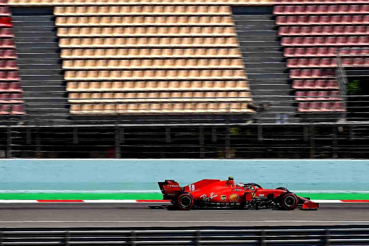 Le tribune vuote sul circuito di Barcellona durante il Gran Premio di Spagna di Formula 1 del 2020
