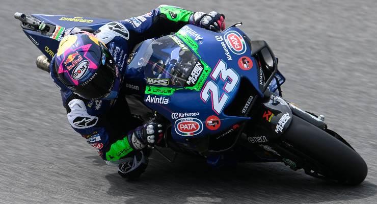 Enea Bastianini in pista sulla Ducati al Gran Premio d'Italia di MotoGP 2021 al Mugello