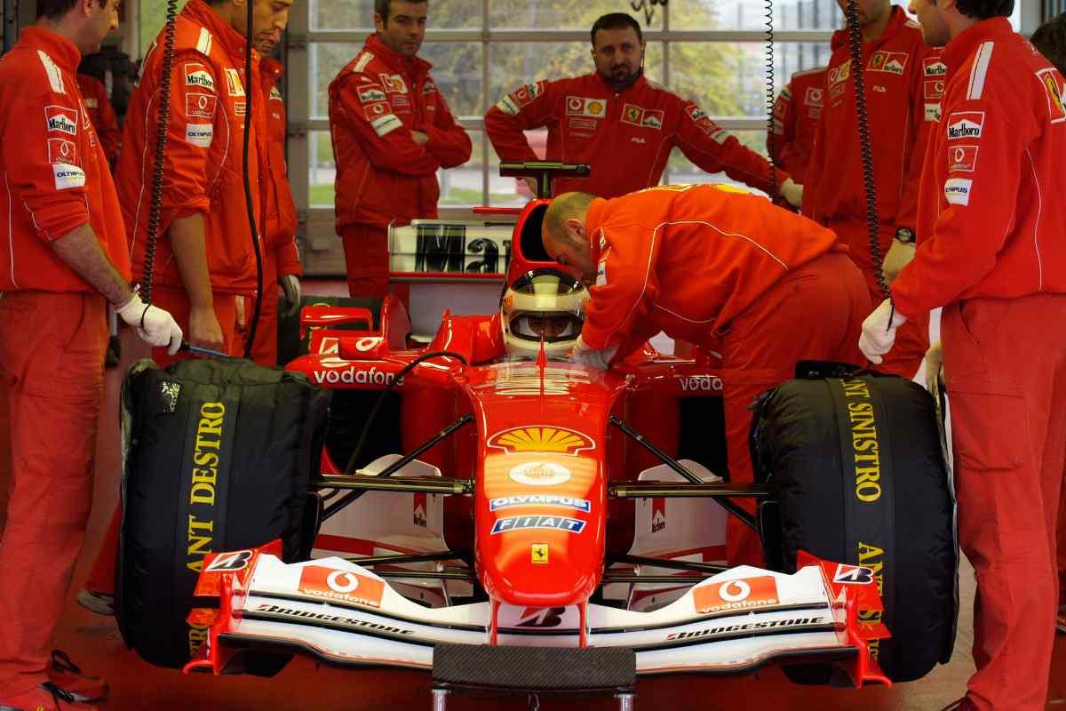 Un test a Fiorano nel 2004 dell'ex pilota