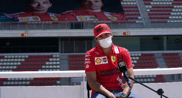 Carlos Sainz al giovedì del Gran Premio di Spagna di F1 2021 a Barcellona