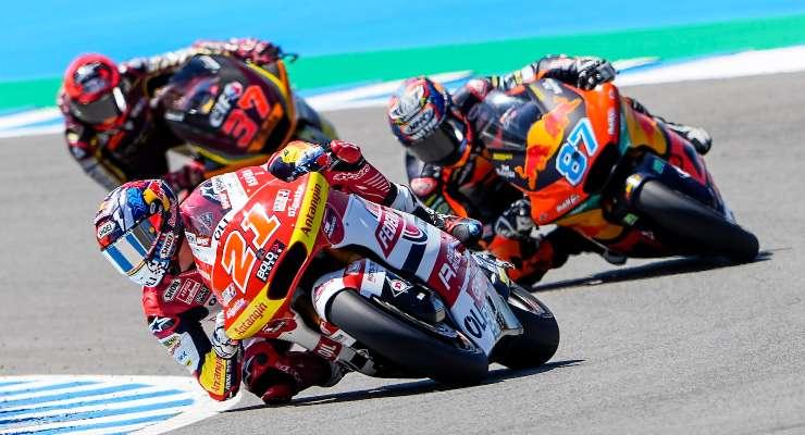 Fabio Di Giannantonio in pista nel Gran Premio di Spagna di Moto2 2021 a Jerez