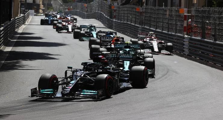 Una fase del Gran Premio di Montecarlo di F1 2021 a Monaco