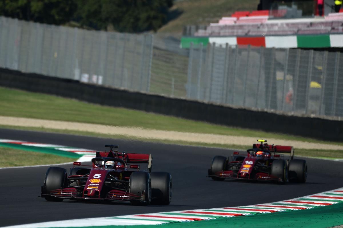 Una fase del Gran Premio di Toscana di Formula 1 2020 al Mugello