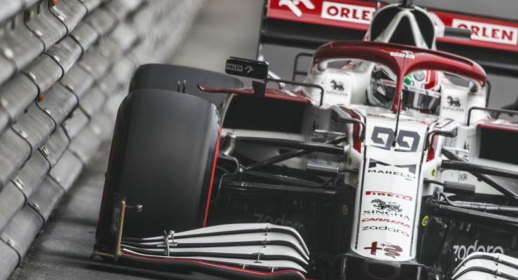 Antonio Giovinazzi in pista nel Gran Premio di Montecarlo di F1 2021 a Monaco (Foto Alfa Romeo)