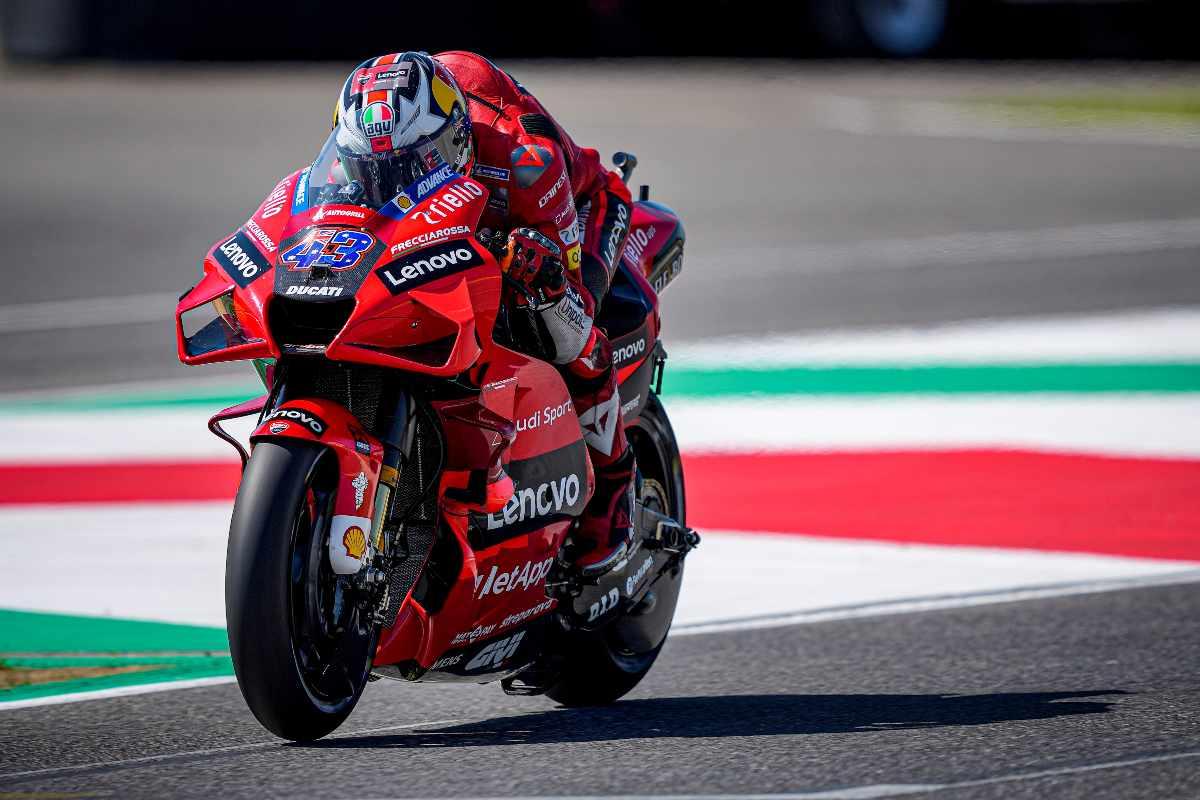 Jack Miller in pista nelle prove libere del Gran Premio d'Italia di MotoGP 2021 al Mugello