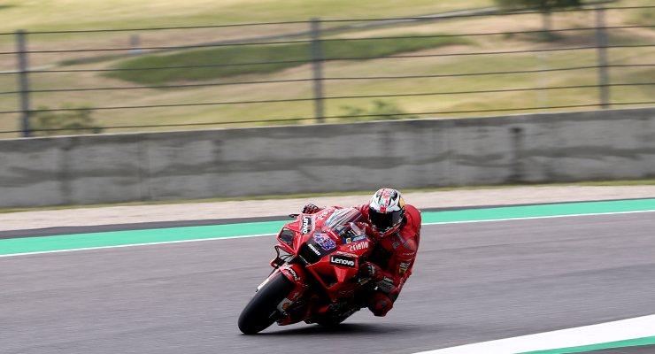 Jack Miller in pista sulla Ducati nelle prove libere del Gran Premio d'Italia di MotoGP 2021 al Mugello