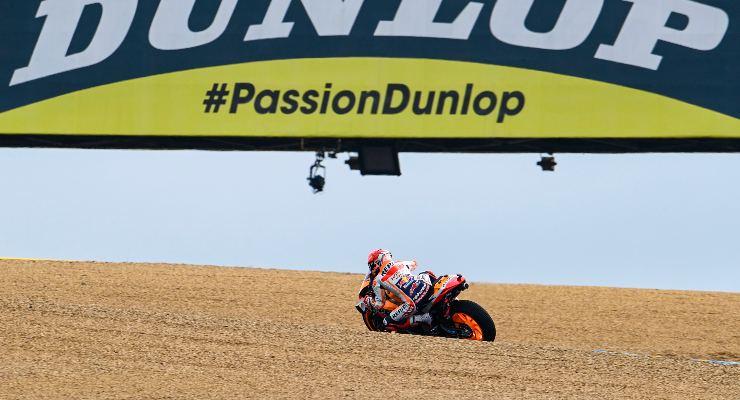 Marc Marquez sulla sua Honda nelle prove libere del Gran Premio di Francia di MotoGP 2021 a Le Mans