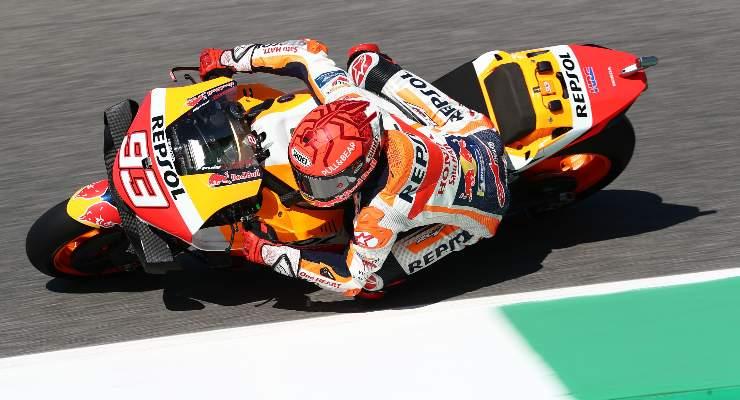Marc Marquez in pista al Gran Premio d'Italia di MotoGP 2021 al Mugello
