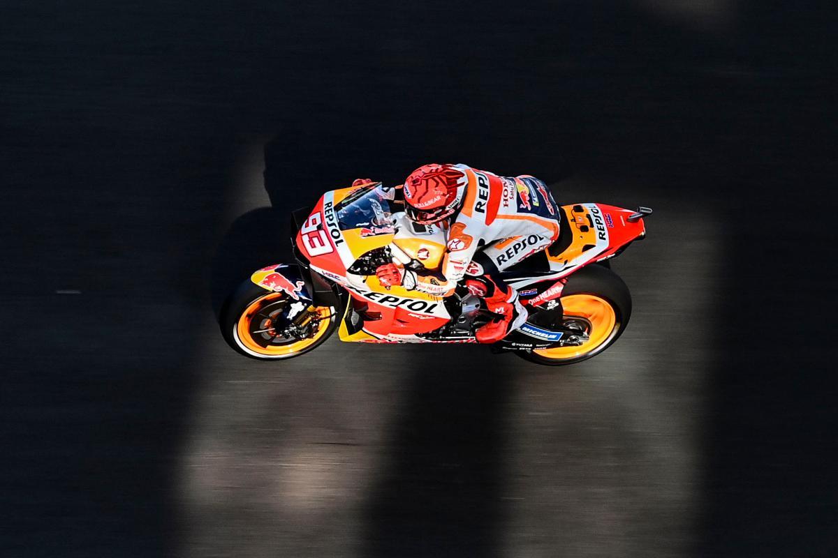 Marc Marquez sulla Honda nelle qualifiche del Gran Premio del Portogallo di MotoGP 2021 a Portimao