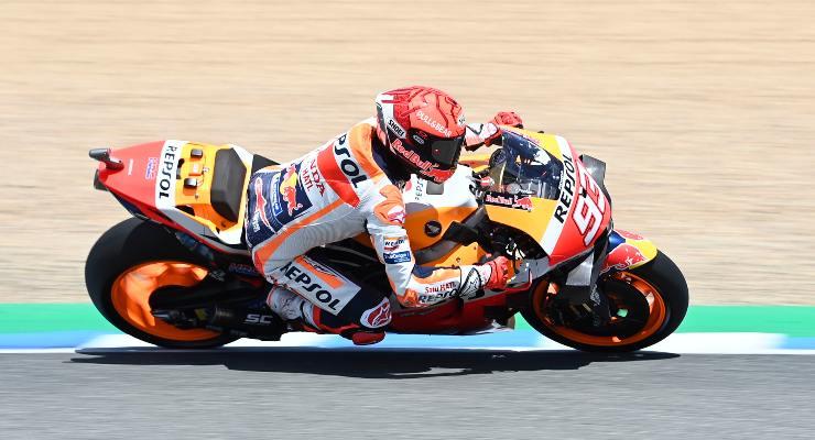 Marc Marquez sulla Honda nelle qualifiche del Gran Premio del Portogallo di MotoGP 2021 a Portimao (Foto Gold & Goose / Red Bull)