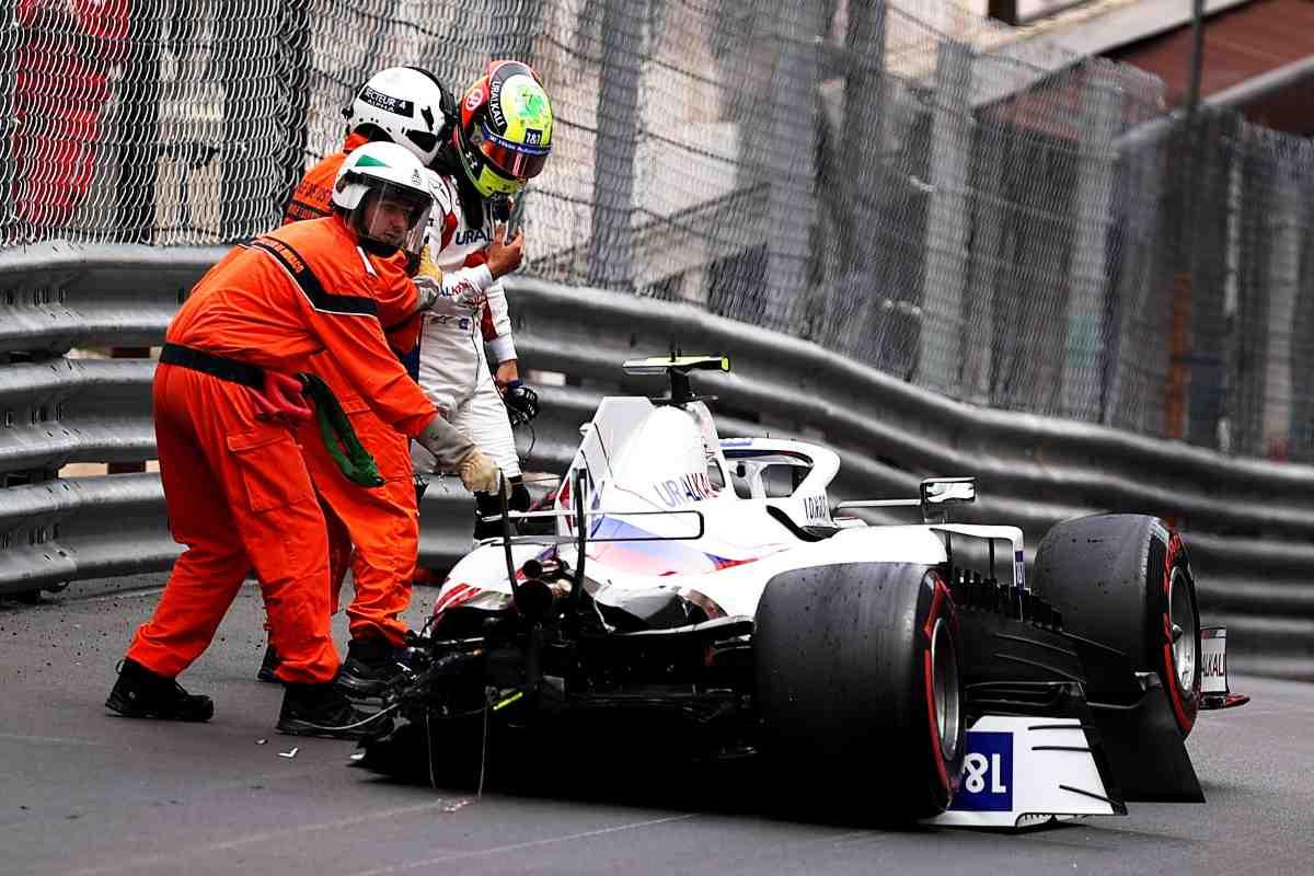L'incidente di Mick Schumacher al Gran Premio di Montecarlo di F1 2021 a Monaco