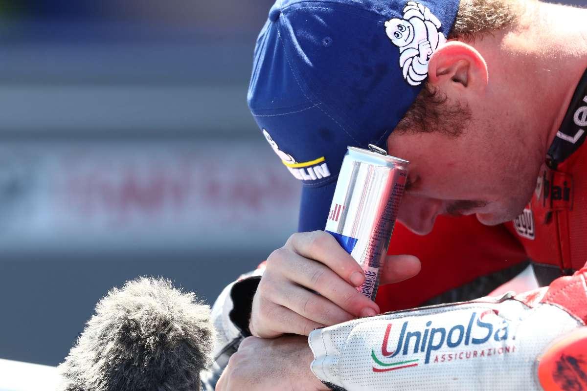 Jack Miller commosso dopo la vittoria al Gran Premio di Spagna di MotoGP 2021 a Jerez