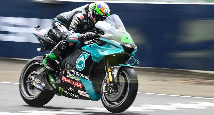 Franco Morbidelli sulla Yamaha nelle qualifiche del Gran Premio di Francia di MotoGP 2021 a Le Mans