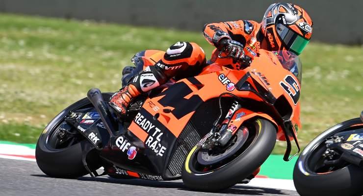 Danilo Petrucci in pista sulla Ktm al Gran Premio d'Italia di MotoGP 2021 al Mugello