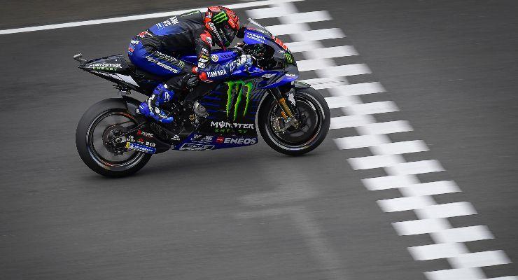 Fabio Quartararo in pista sulla Yamaha nel Gran Premio di Francia di MotoGP 2021 a Le Mans (Foto Dorna)