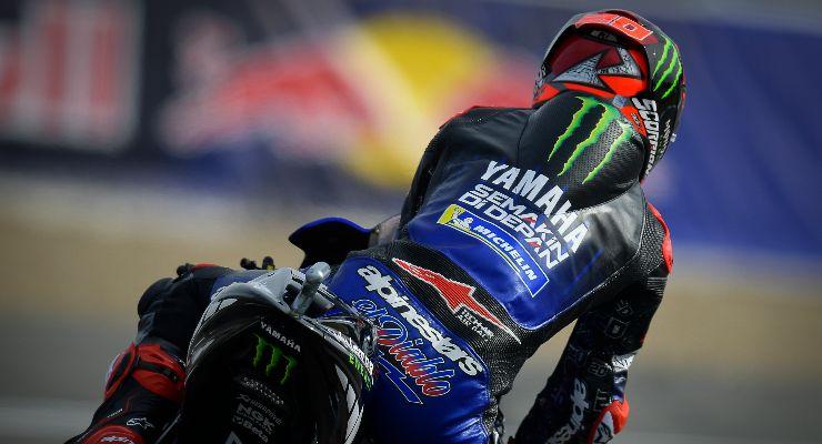 Fabio Quartararo sulla sua Yamaha nel Gran Premio di Spagna di MotoGP 2021 a Jerez