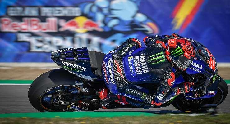 Fabio Quartararo sulla Yamaha nel Gran Premio di Spagna di MotoGP 2021 a Jerez