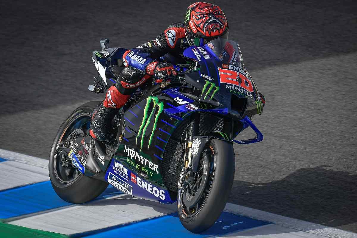 Fabio Quartararo nelle qualifiche del Gran Premio di Spagna di MotoGP 2021 a Jerez