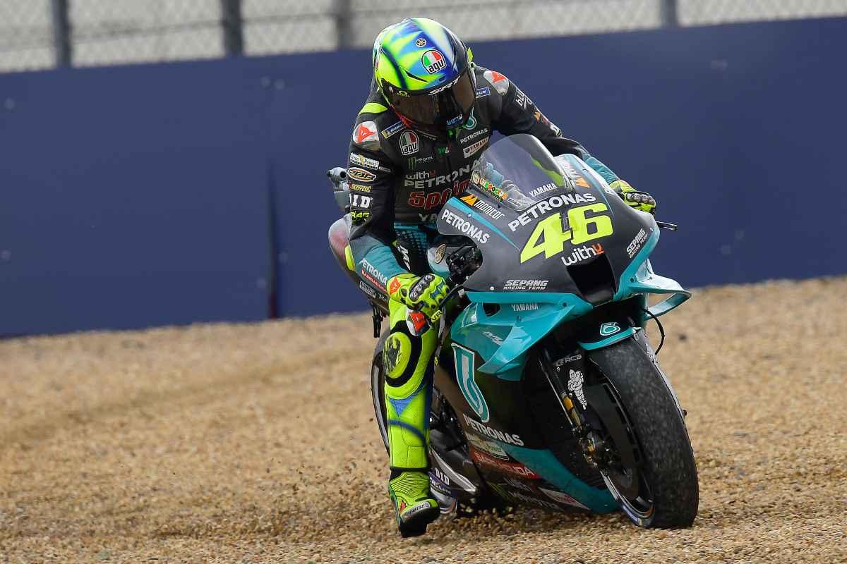 Valentino Rossi in pista al Gran Premio di Francia di MotoGP 2021 a Le Mans