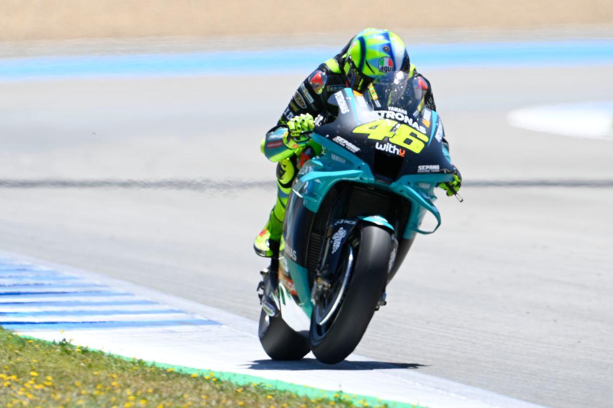 Valentino Rossi in pista a Jerez de la Frontera