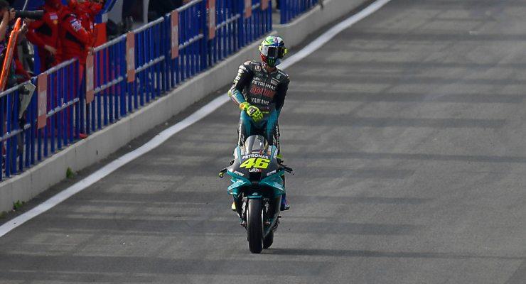 Valentino Rossi sulla Yamaha Petronas nel Gran Premio di Spagna di MotoGP 2021 a Jerez