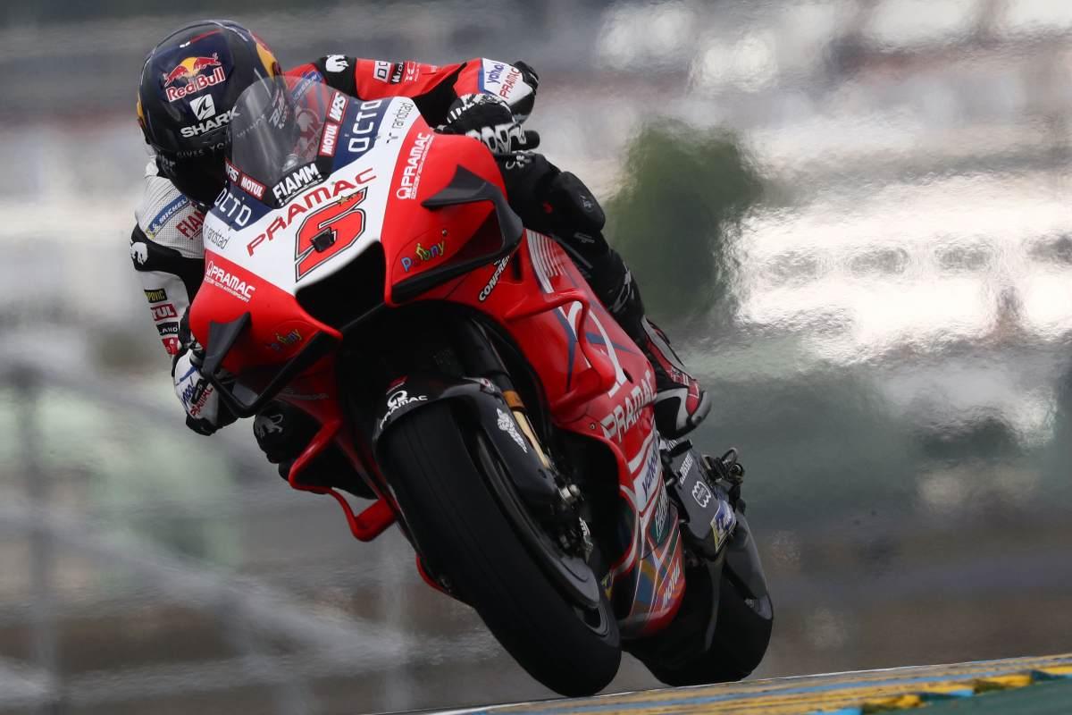 Johann Zarco sulla Ducati Pramac nelle prove libere del Gran Premio di Francia di MotoGP 2021 a Le Mans