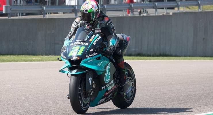 Franco Morbidelli in pista con la sua M1 (GettyImages)