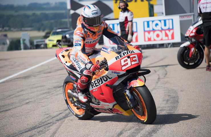Marc Marquez in sella alla Honda (GettyImages)