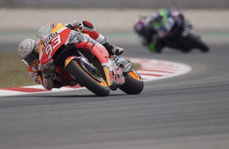Marc Marquez in pista con la Honda (GettyImages)