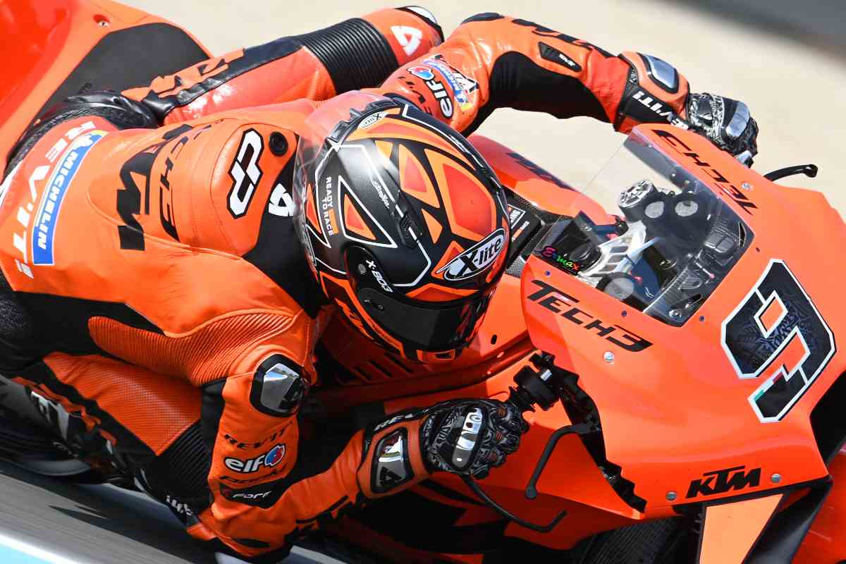 Danilo Petrucci in pista sulla Ktm al Gran Premio d'Olanda di MotoGP 2021 ad Assen
