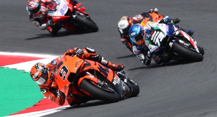 Danilo Petrucci in pista sulla Ktm nel Gran Premio d'Olanda di MotoGP 2021 ad Assen
