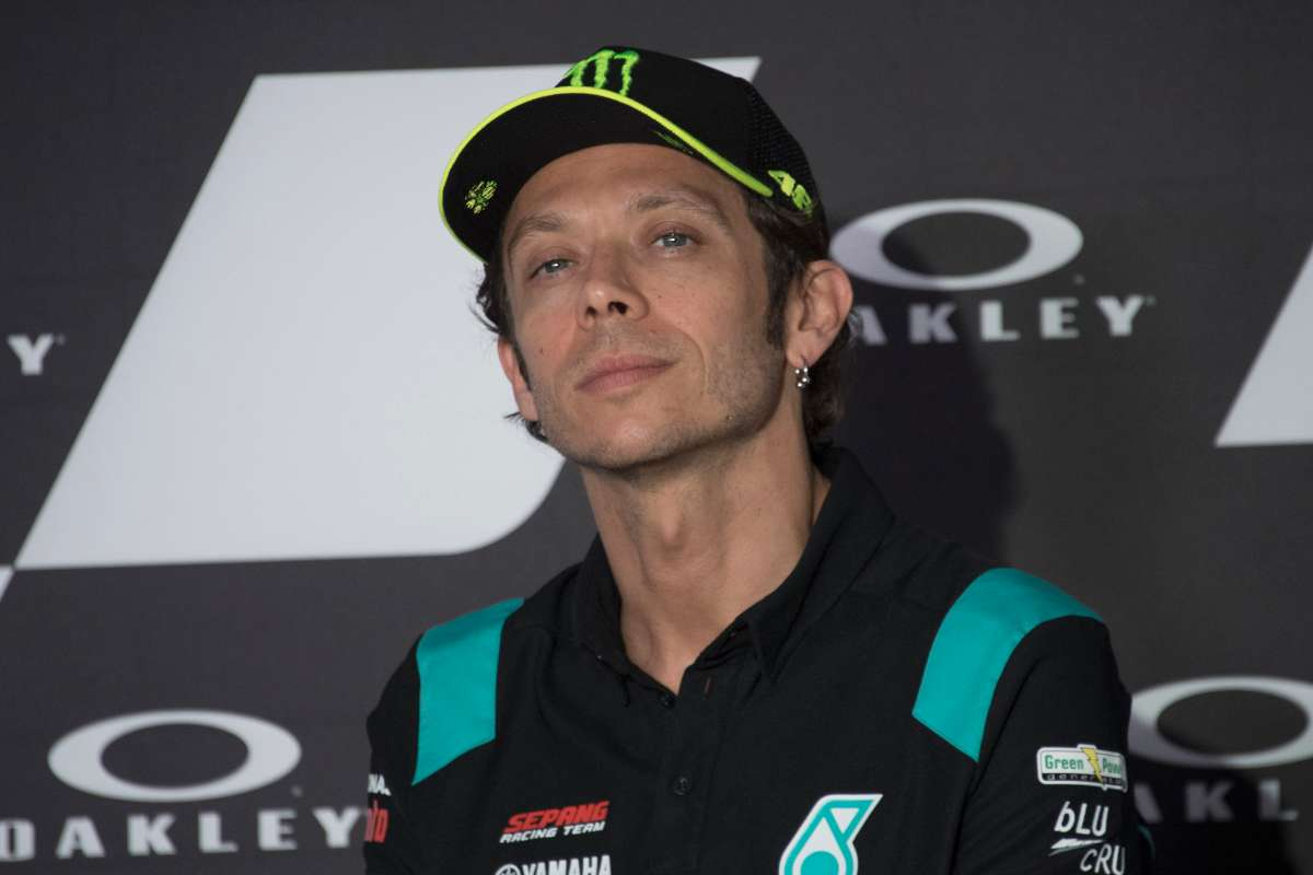 Valentino Rossi in conferenza stampa (GettyImages)