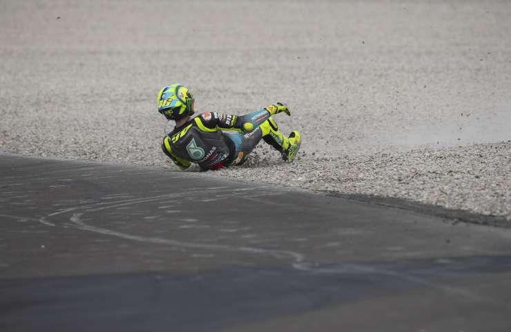 Valentino Rossi nella ghiaia al GP di Catalunya (GettyImages)
