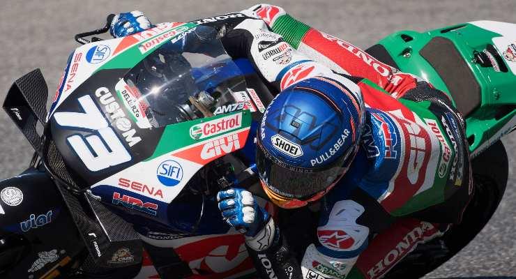 Alex Marquez in pista al Gran Premio d'Italia di MotoGP 2021 al Mugello