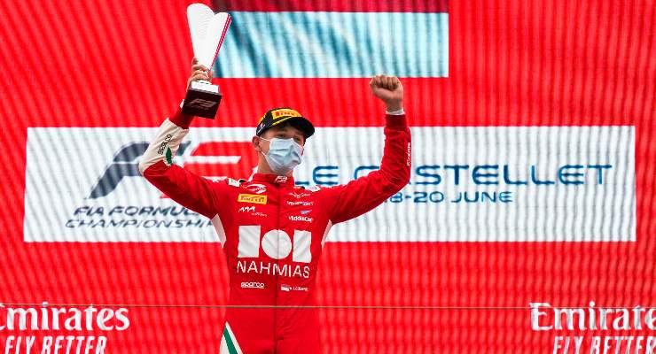 Arthur Leclerc sul podio del Paul Ricard in Formula 3