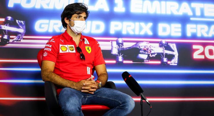 Carlos Sainz nella conferenza stampa del Gran Premio di Francia di F1 2021 al Paul Ricard