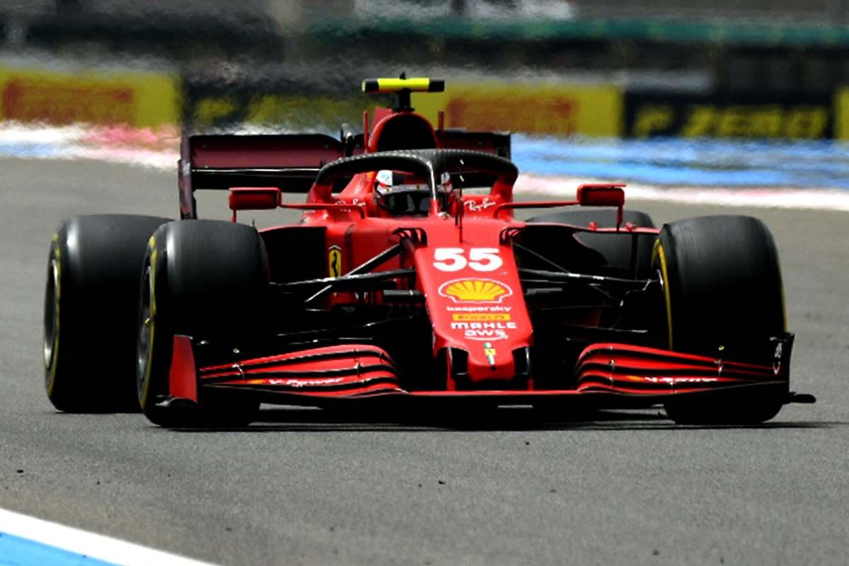 Carlos Sainz in pista al Gran Premio di Francia di F1 2021 al Paul Ricard