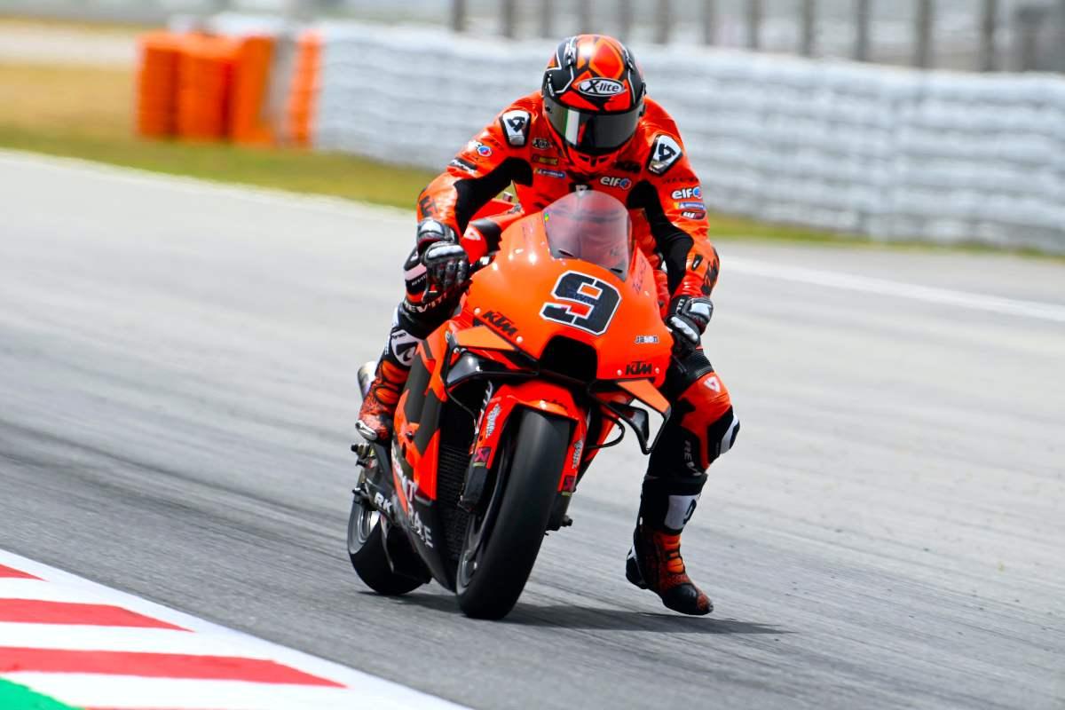Danilo Petrucci sulla Ktm nei test MotoGP di Barcellona