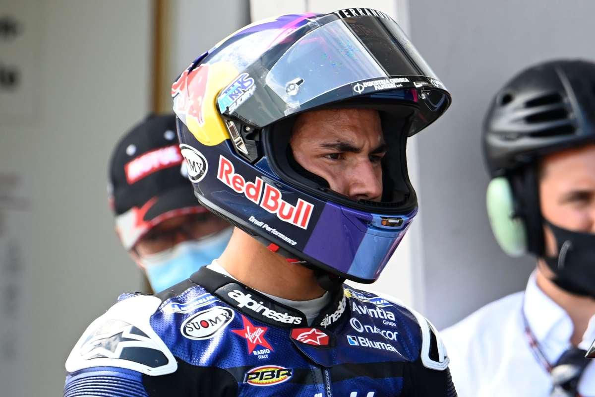 Enea Bastianini nelle qualifiche del Gran Premo di Germania di MotoGP 2021 al Sachsenring