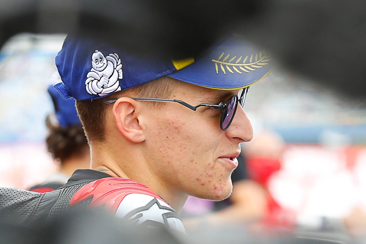 Fabio Quartararo nel parco chiuso del Gran Premio d'Olanda di MotoGP 2021 ad Assen
