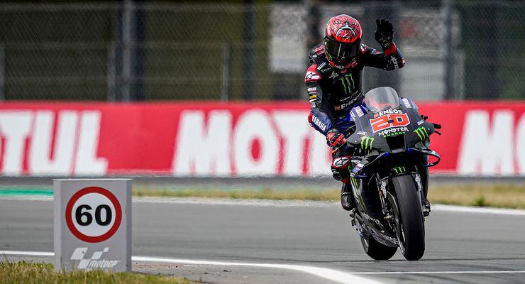 Fabio Quartararo in pista al Gran Premio d'Olanda di MotoGP 2021 ad Assen
