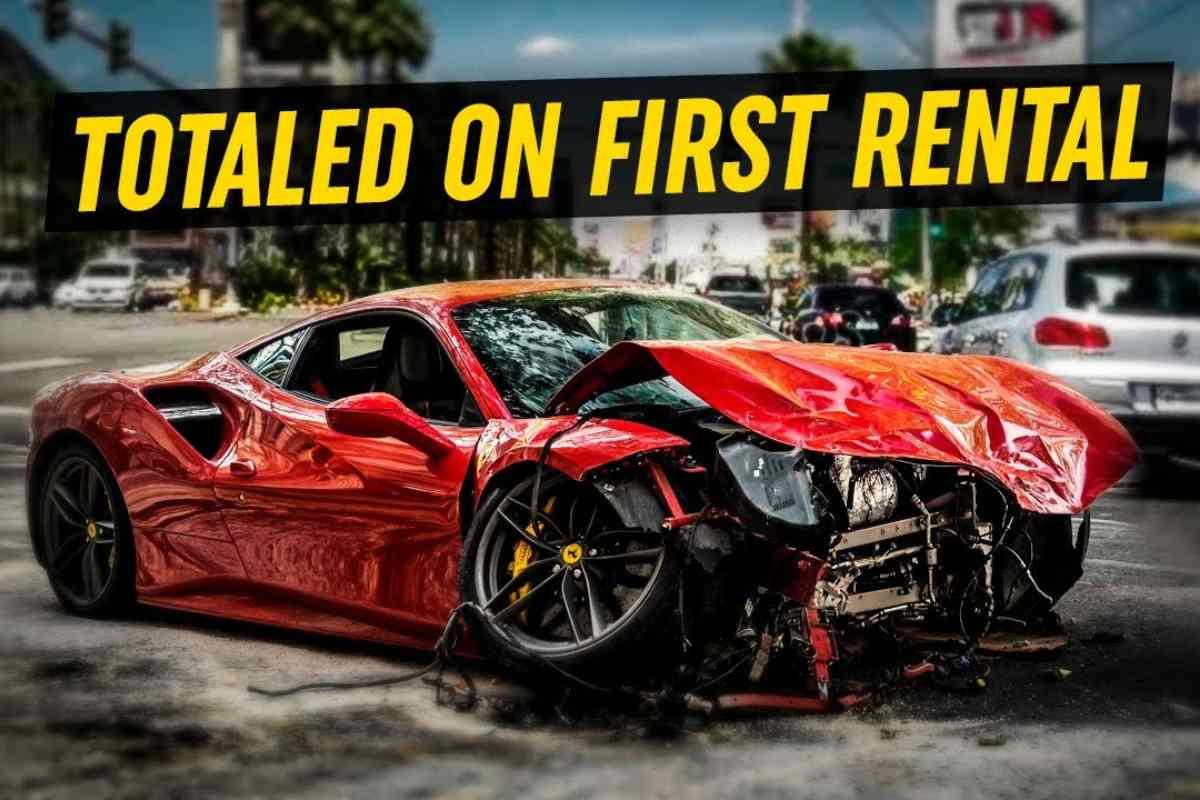 La Ferrari F8 Tributo distrutta