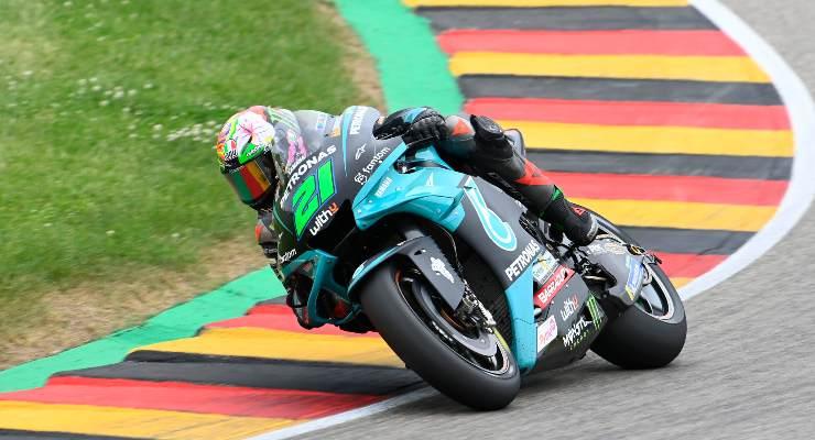 Franco Morbidelli in pista al Gran Premio di Germania di MotoGP 2021 al Sachsenring
