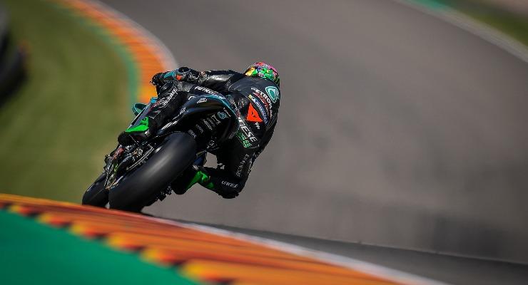 Franco Morbidelli sulla Yamaha del team Petronas nelle prove libere del Gran Premio di Germania di MotoGP 2021 al Sachsenring