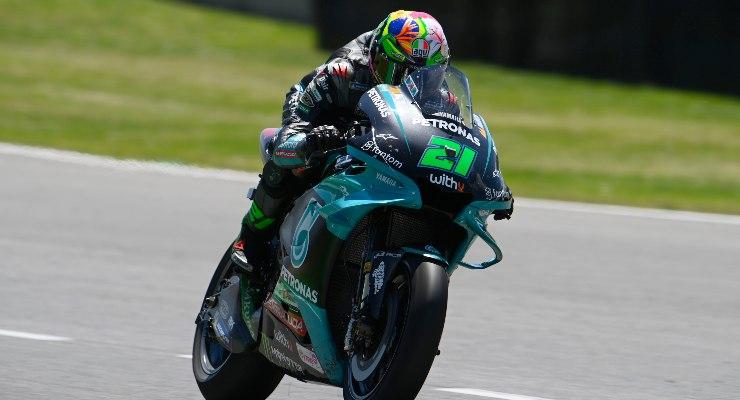 Franco Morbidelli in pista sulla Yamaha nel Gran Premio d'Italia di MotoGP 2021 al Mugello