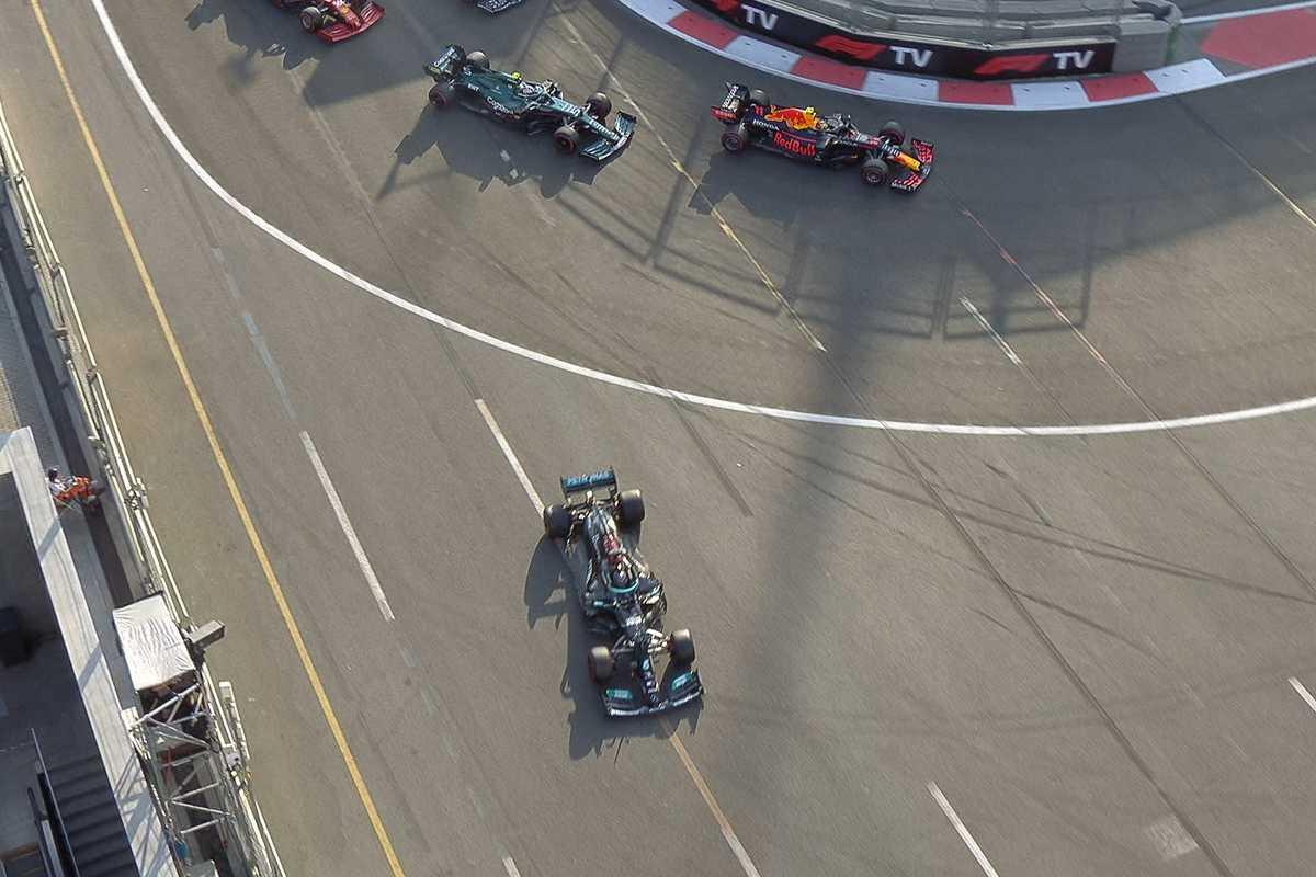 L'errore di Lewis Hamilton nel Gran Premio dell'Azerbaigian a Baku