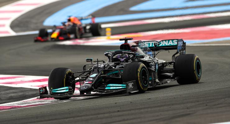 Lewis Hamilton al Gran Premio di Francia di F1 2021 al Paul Ricard (Foto LAT Images/Mercedes)
