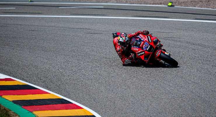Jack Miller in pista al Gran Premio di Germania di MotoGP 2021 al Sachsenring